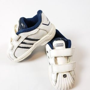 Adidas | Infant Blue White Classic Unisex Sneakers